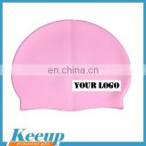 2015 new arrival non-toxic waterproof custom logo silicone rubber swimming hat