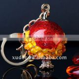 Novel lovely CRYSTAL KEYCHAIN crystal Pomegranate key chain crystal animal key ring bag accessory 43029