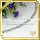 Silver flower metal jewelry head chain headband crystal rhinestone necklace FC620                                                                                                         Supplier's Choice