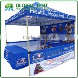 Custom Print Aluminum Folding Pagoda Tent 3x3m ( 10ft X 10 ft), Printed canopy & valance, 1 full walls,2 half wall &1 table