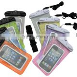 Universal waterproof protective case with lanyard for mobile phone new type smart waterproof cover for iphone5
