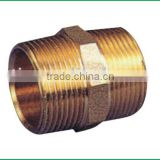 "good quality low price 1/2"" brass double Hydraulic fitting nipple"