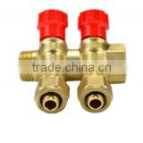 Brass manifold/floor heating system