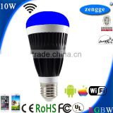 Solar Camping Lamp RGBW WiFi Smart Led E27 E26 B22 Smart Home Control System Small Led Bulb 110V