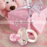 crystal gift of pink pacifier Baby Shower favors for baby gift