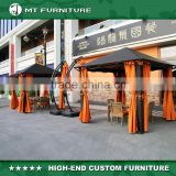 Chinese Cheap Wooden Aluminum frame 3 Meter Square Outdoor Rattan Garden Gazebo