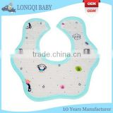 WZ-MS-1046 adorable funny soft touch waterproof fancy teething baby bibs