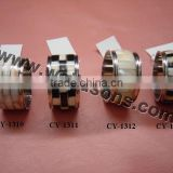 Factory promotion price Bulk Wholesale Brass Napkin Ring Custom Silver Plated towel Rings for Weddings Party