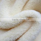 white color 100% polyester two brush heavy weight soft feeling fleece fabric                                                                         Quality Choice