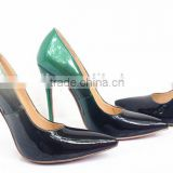Grey&black cl stiletto shoes color sole can be changed your logo your design shoes oem guangzhou factory