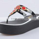 2015 new products thick platform sexy jelly sandals pvc upper free samples melissa shoes pu outsole wedge slippers