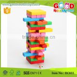 EC055 Colorful Wooden Jenga Toys Stacking Game Kids Blocks                                                                         Quality Choice