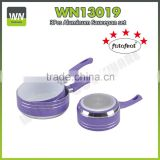 Aluminium high quality uses of sauce pot milk pan set ceramic sauce pan with glass lid and bakelite handle