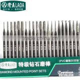 LAOA30pcs set 3mm Free shipping diamond grinding tools emerald jade carving tools rod mill