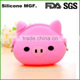 Silicone Material cheap animal shape coin purse silicone rubber pocket coin purse for promotion