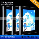 Edgelight AF50 aluminum high quality frameless textile LED light box which made in Shanghai