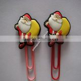 top selling products in alibaba chrismas clip decoration 2015/ 3d pvc custom santa claus clip wholesale