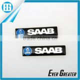 custom top value aluminum sticker emblems 3M tape metal sticker custom metal logo stickers