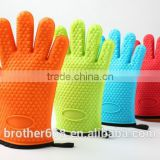 Silicone cotton gloves - Heat Resistant Oven Mitt for Grilling, BBQ, Kitchen - Safe Handling of Pots and Pans