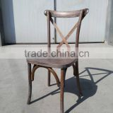 Boutique Event Wooden Cross back Chair