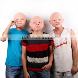 Funny Party Face Masks Creepy Halloween Costume Prop Cry Baby Full Head Latex Rubber Masquerade Mask