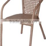 Cheap home rattan Garden restaurant rattan dining Chair with pattern