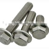 304 stainless steel flange outer hexagonal screws, hex flange bolts, toothed screw, M6 M8 M10