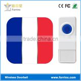 Flag Printing 433MHZ Frequence Decorative Ding Dong Door Bell 12V for Office