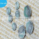 Lead-free custom latest fashion 20mm silver matte hot-sale garment quality insert zinc alloy jeans buttons
