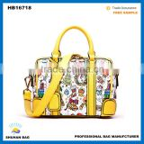 full colors printed ladies Handbags, wholesales european style ladies hand bags                                                                                                         Supplier's Choice