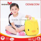 Soundable Yellow Duck Kids Backpack wholesale cheap Back School Bags Design For Little Boys Girls
