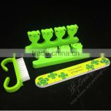 Custom printed nail care tools with nail cleaning brush
