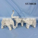 Elephant design porcelain animal decoration