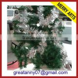 Dot decorated star felt garland 2015 hot sale christmas silver tinsel