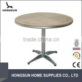 Metal frame wood used round banquet tables for sale                                                                         Quality Choice