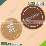 promotional advertising full color printing anti-slide custom logo round promotion absorbent soft pvc coaster