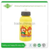 500ml Single wall aluminum cartoon baby feeding water bottle