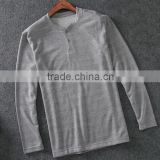 New model factory price slim fit men's casual long sleeves shirt with 2 buttons