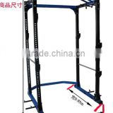 GYM EQUIPMENT POWER RACK WITH BAND PEGS DIP HANDELS