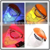 2014Hot sale portable three colors led light led therapy skin care led skin rejuvenation mask