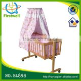 hottest sales baby bed with cradle mosquito net
