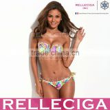 The Belle of the Beach - RELLECIGA Full-Lined Flirty Jungle Pattern Hot Girl Sexy Bikini Set with Removable Padding