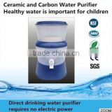 2015 hot-selling New Model New design 8.5L ceramic filter mineral water pot/OEM