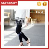 V-227 Stylish baby girl knitting pretty pantyhose baby leggings with bow dance socks