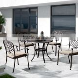Luxury antique cast aluminum furniture table and chair set garden/patio furniture FCO-CA002