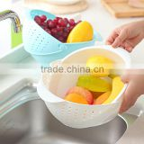 Removable Strainer Dishwasher Safe Plastic Vegetable Wash Basket