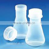 Transparent Polypropylene Graduated Wide Neck Conical Flask with screw cap