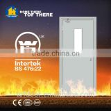 2 hours fire rated door with fireproof glass