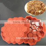 Food certification Bee Honeycomb hut re-useable Silicone cake mold muffin cupcake chocolate mold cake pan