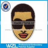 Cool Black man embroidery chenille patch design of textile jeans label tags